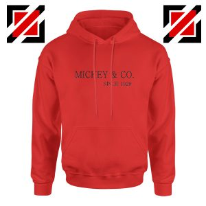 Mickey Mouse Hoodie Mickey And Co Since 1928 Size S-2XL Red