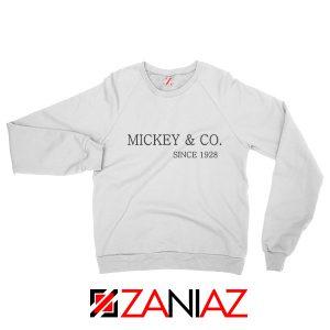 Mickey Sweatshirt Funny Animal Cartoon Sweatshirt Unisex Adult White