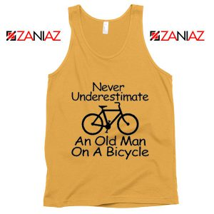Never Underestimate An Old Man On A Bicycle Tank Top Men's Sunshine