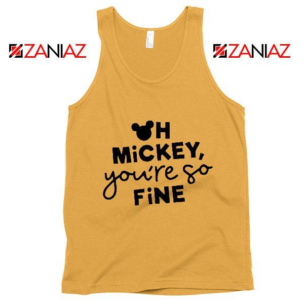 Oh Mickey You So Fine Tank Top Disney Vacation Tank Top Sunshine
