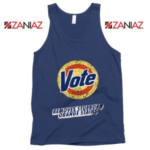 Resistance Anti Trump Tank Top Funny Vote Removes Trump Tank Top Navy Blue