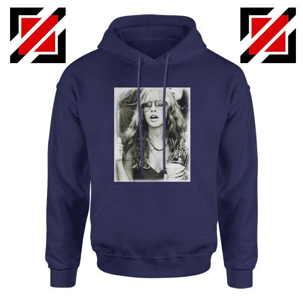 Stevie Nicks Hoodie Music Rock Concert Hoodie Unisex Adult Navy Blue