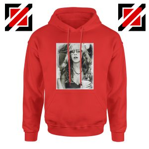 Stevie Nicks Hoodie Music Rock Concert Hoodie Unisex Adult Red