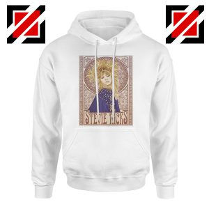 Stevie Nicks Hoodie Vocalist with Fleetwood Mac Hoodie White