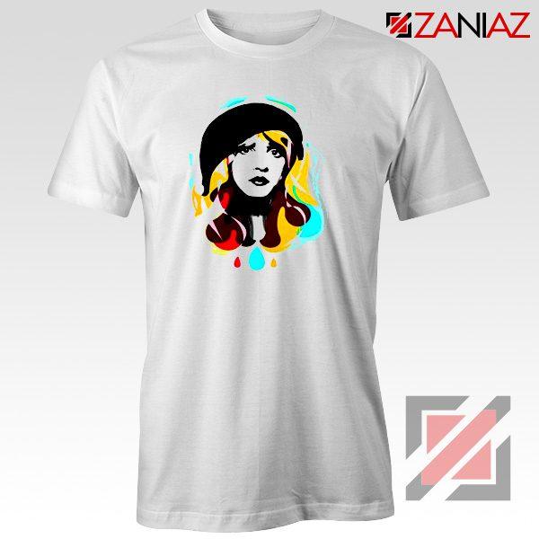Stevie Nicks Shirt Cheap Musician Shirt Women's Clothing White