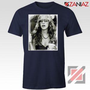Stevie Nicks Shirt Concert Musician Cheap Tshirt Size S-3XL Navy Blue