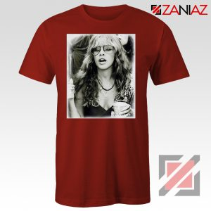 Stevie Nicks Shirt Concert Musician Cheap Tshirt Size S-3XL Red