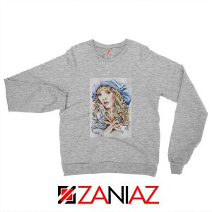 Stevie Nicks Sweatshirt American Musician Sweatshirt Unisex Grey