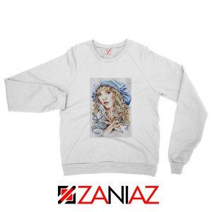 Stevie Nicks Sweatshirt American Musician Sweatshirt Unisex White