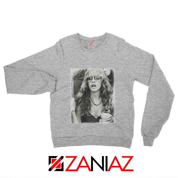 Stevie Nicks Sweatshirt American Rock Music Size S-2XL Grey