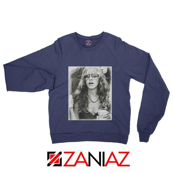 Stevie Nicks Sweatshirt American Rock Music Size S-2XL Navy Blue