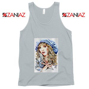 Stevie Nicks Tank Top American Rock Singer Tank Top Unisex Silver