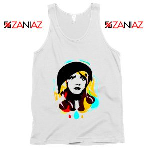 Stevie Nicks Tank Top Women's Clothing Musician Unisex Adult White