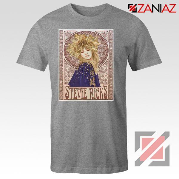 Stevie Nicks Woman Shirt Best Musician Shirt Size S-3XL Grey