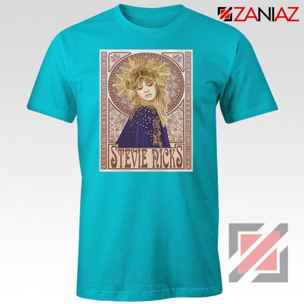 Stevie Nicks Woman Shirt Best Musician Shirt Size S-3XL Light Blue