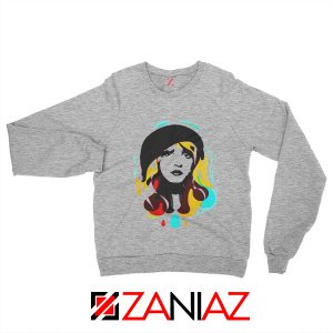 Stevie Nicks Woman Sweatshirt Musician Sweatshirt Size S-2XL Grey