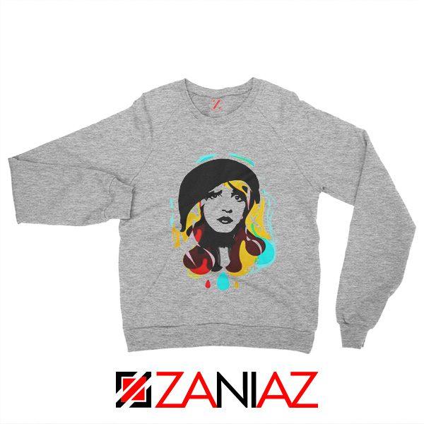 Stevie Nicks Woman Sweatshirt Musician Sweatshirt Size S-2XL Grey