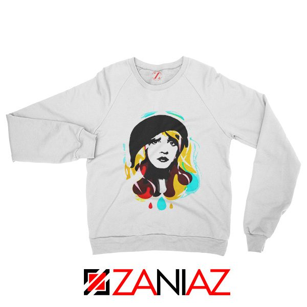 Stevie Nicks Woman Sweatshirt Musician Sweatshirt Size S-2XL White