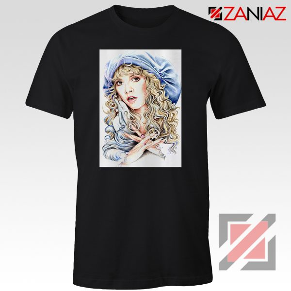 Stevie Nicks Woman Tshirt American Singer Shirt Size S-3XL Black