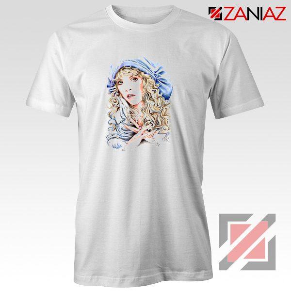 Stevie Nicks Woman Tshirt American Singer Shirt Size S-3XL White
