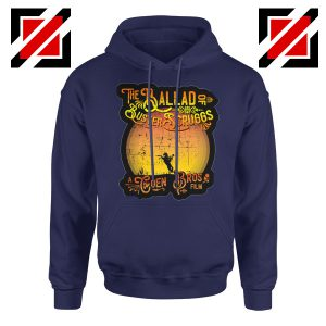 The Ballad of Buster Scruggs Hoodie American Western Comedy Drama Navy