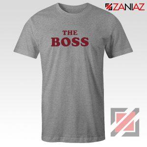 The Boss Shirt Cheap Christmas Funny Matching Shirts Size S-3XL Sport Grey