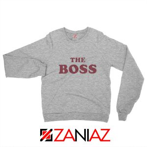 The Boss Sweatshirt American Comedy Film Sweatshirt Size S-2XL Sport Grey