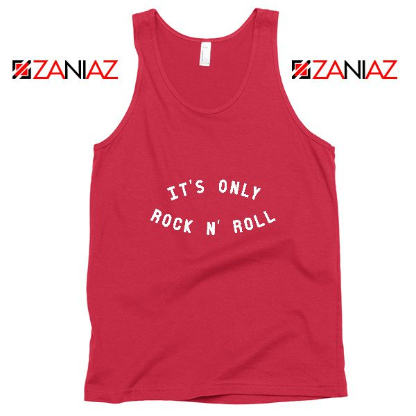 The Rolling Stones Band Cheap Tank Top It's Only Rock And Roll Red