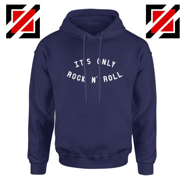 The Rolling Stones Band It's Only Rock And Roll Cheap Hoodie Navy