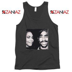 Tupac Amaru And Aaliyah Dana Tank Top Summer Gift Unisex Black