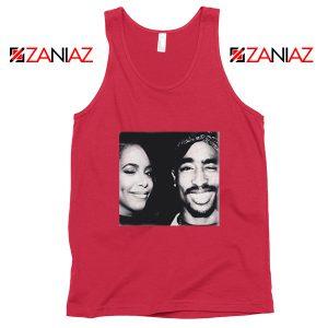 Tupac Amaru And Aaliyah Dana Tank Top Summer Gift Unisex Red