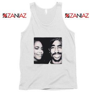 Tupac Amaru And Aaliyah Dana Tank Top Summer Gift Unisex White