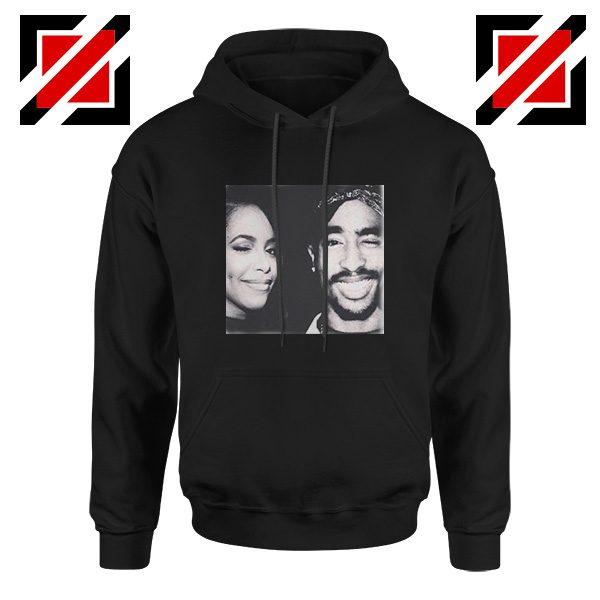 Tupac And Aaliyah Hip Hop Hoodie American Music Gift Hoodie Black
