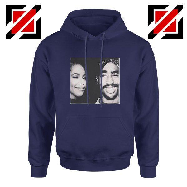 Tupac And Aaliyah Hip Hop Hoodie American Music Gift Hoodie Navy