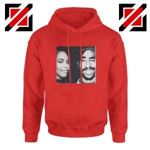 Tupac And Aaliyah Hip Hop Hoodie American Music Gift Hoodie Red
