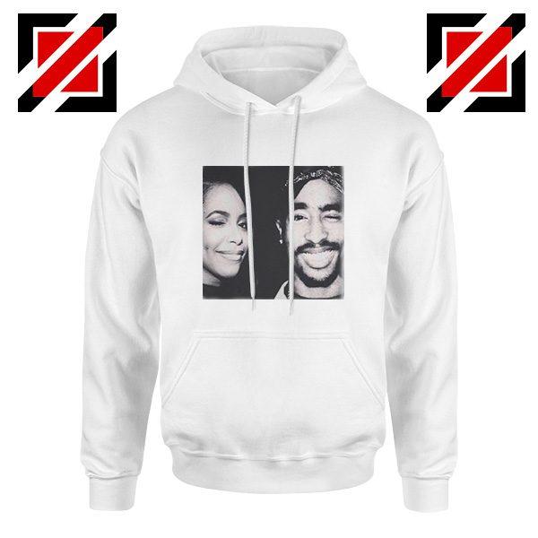 Tupac And Aaliyah Hip Hop Hoodie American Music Gift Hoodie White