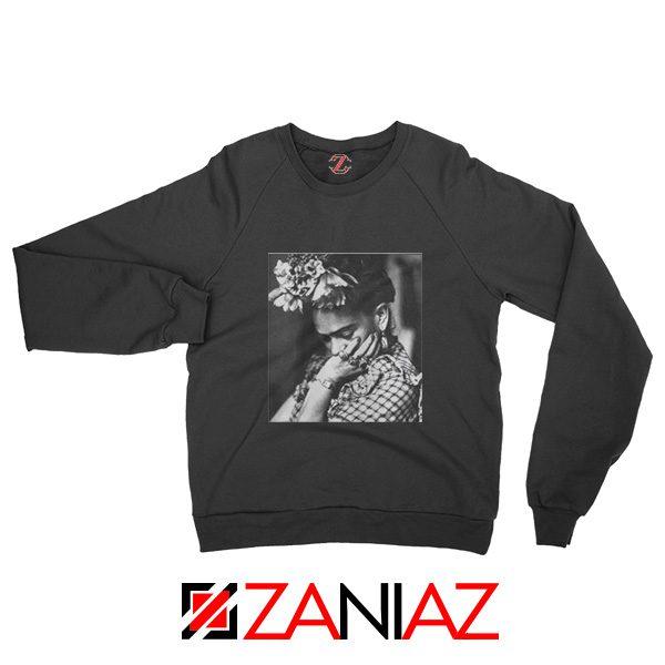 Women's Clothing Frida Kahlo Sweatshirt Feminist Unisex Adult Black