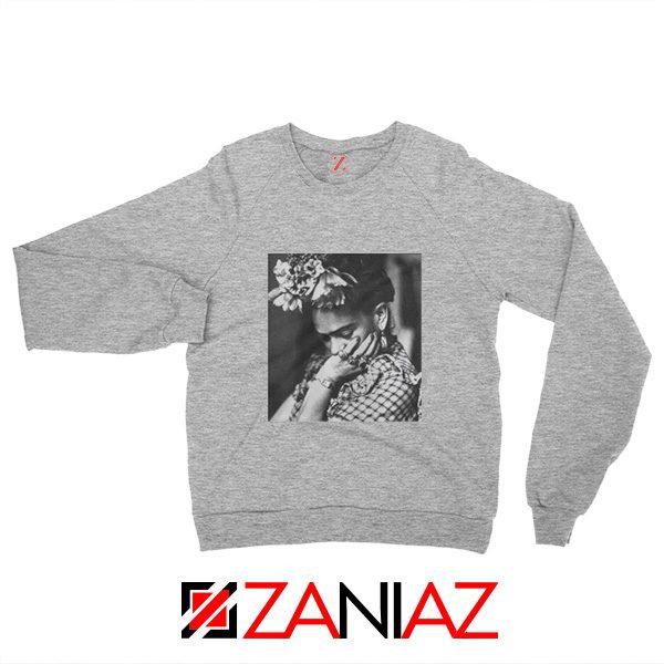 Women's Clothing Frida Kahlo Sweatshirt Feminist Unisex Adult Grey