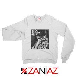 Women's Clothing Frida Kahlo Sweatshirt Feminist Unisex Adult White