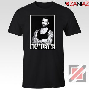 Adam Levine Maroon 5 Tee Shirt American Pop Rock Band T-Shirt Black