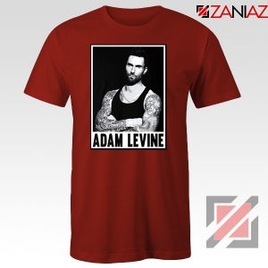 Adam Levine Maroon 5 Tee Shirt American Pop Rock Band T-Shirt Red