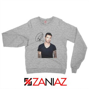 Adam Levine Signature Sweatshirt Maroon 5 Sweatshirt Ideas Size S-2XL Sport Grey