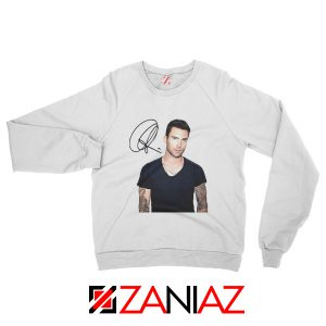 Adam Levine Signature Sweatshirt Maroon 5 Sweatshirt Ideas Size S-2XL White