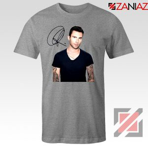 Adam Levine Signature T-Shirt Maroon 5 Tshirt Ideas Size S-3XL Sport Grey
