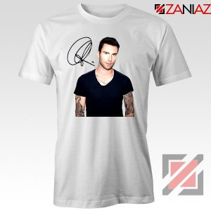Adam Levine Signature T-Shirt Maroon 5 Tshirt Ideas Size S-3XL White
