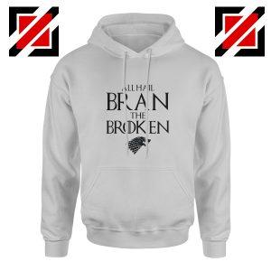 All Hail Bran The Broken Hoodie Game Of Thrones Men's Hoodie Sport Grey