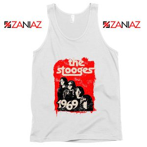 American Rock Band The Stooges Best Cheap Tank Top Size S-3XL White