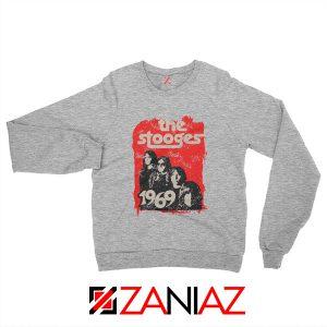 American Rock Band The Stooges Best Sweatshirt Size S-2XL Sport Grey