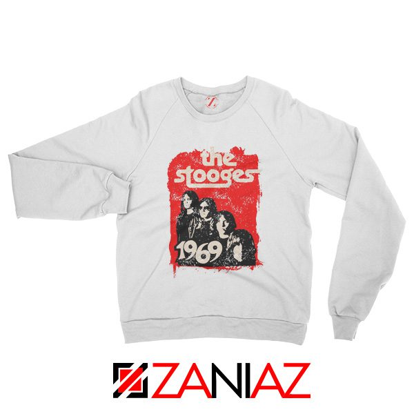 American Rock Band The Stooges Best Sweatshirt Size S-2XL White