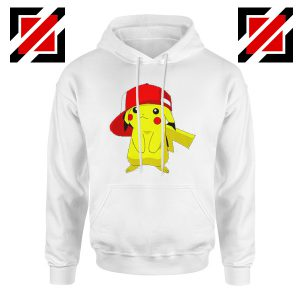 Ash's Pokemon Hoodie Pikachu Movies Best Hoodie Size S-2XL White